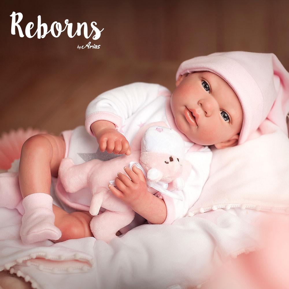 ARIAS - Boneca Reborn Gala Arias (40 cm)