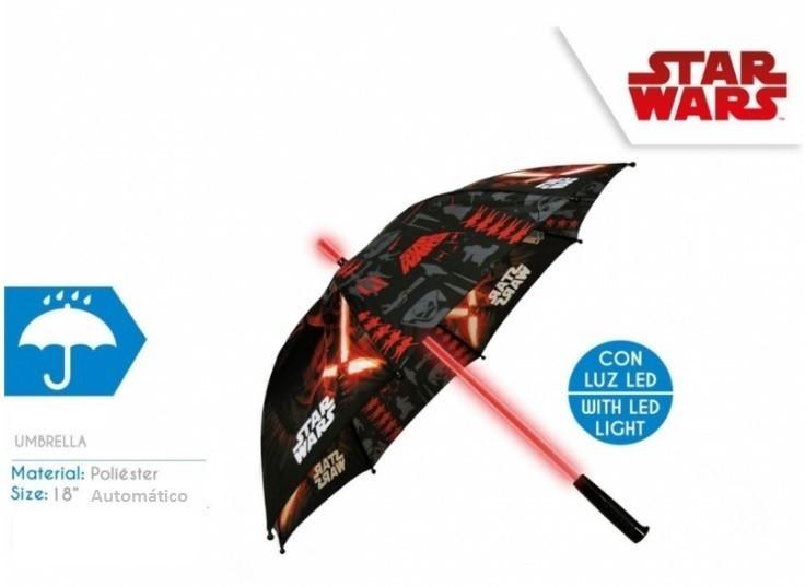 Chapéu chuva automatico com luz Led Star Wars 46cm  9776e2bf5cc