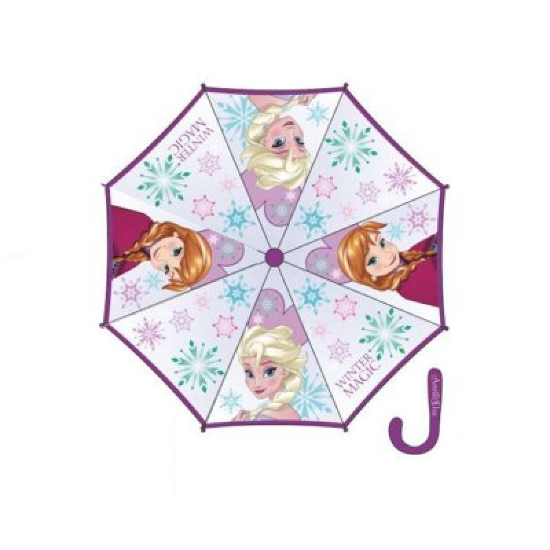 Chapéu chuva manual de cabo roxo Frozen 46cm  ae0a50e6fbd