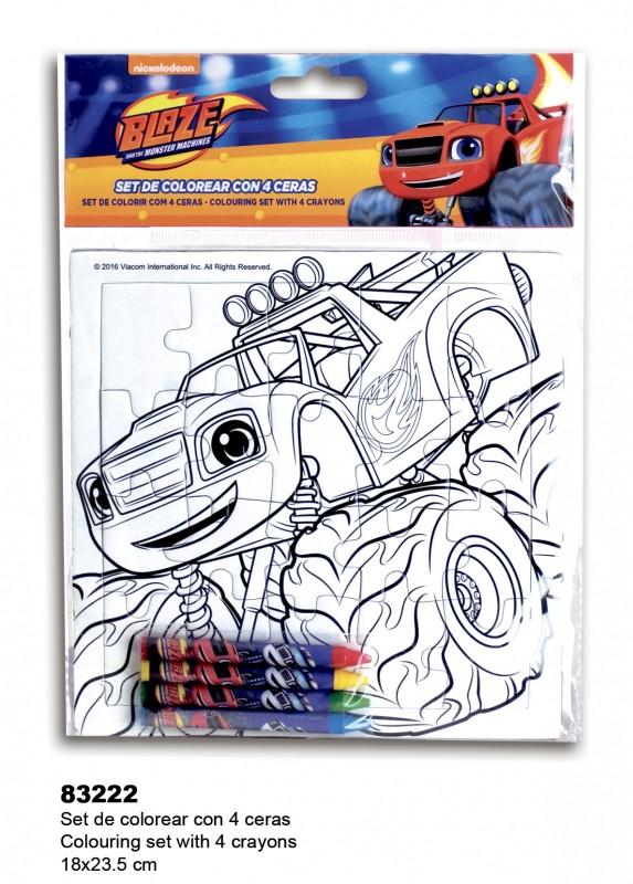 Conjunto Pintura Blaze And The Monster Machines Loja Da Crianca