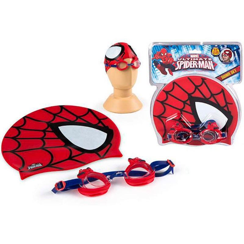 Conjunto touca + óculos natação Spiderman Marvel Ultimate   Loja da ... d9c584eda2