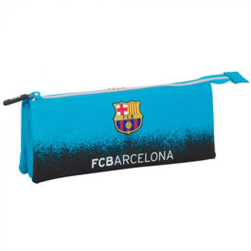 1c25f136ae01e Estojo escolar triplo F.C.Barcelona Blue