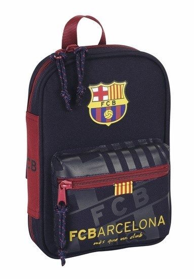 cdd002b5c0445 Estojo escolar triplo formato mochila FC Barcelona 2014 15
