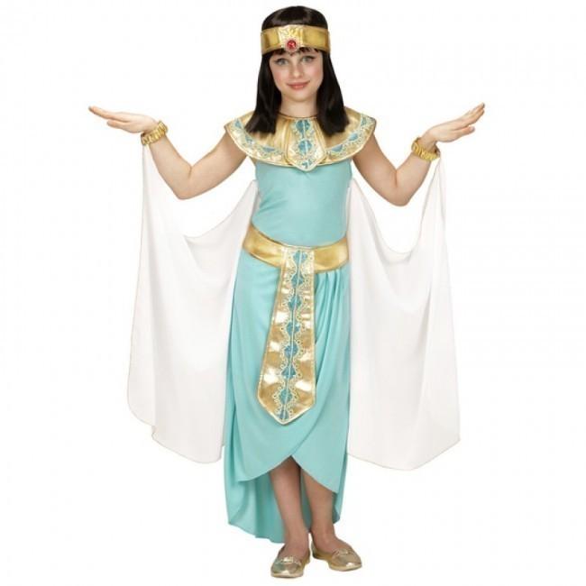 8cc6714dd Fato de rainha egípcia azul para menina