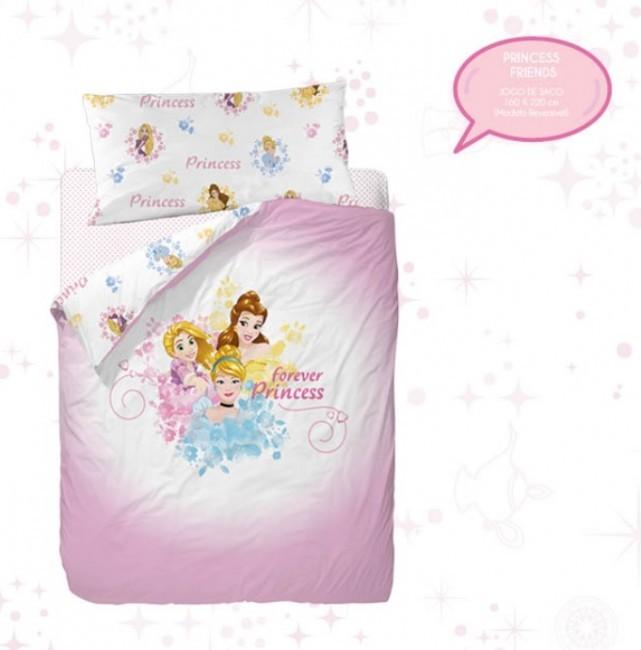 7616a0cc3b Jogo Saco Cama princesas Disney Friends 160x220