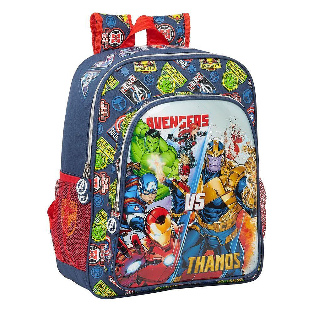 Mochila AVENGERS Junior Heroes vs Thanos (Azul - Poliéster - 38x12x32cm)