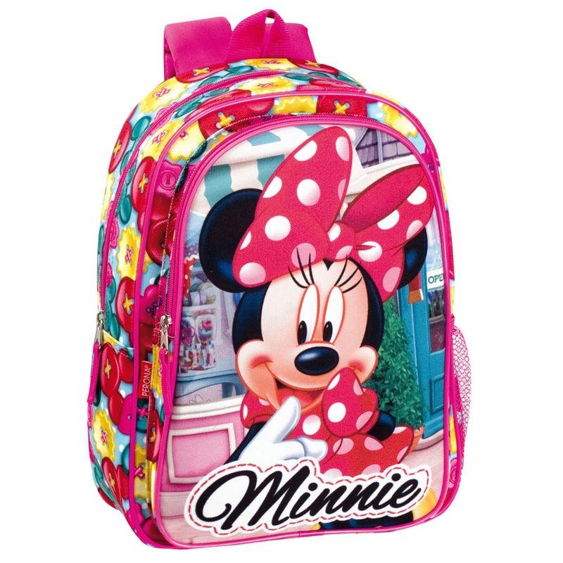 Mochila pre escolar 37cm Minnie rosa | Loja da Criança