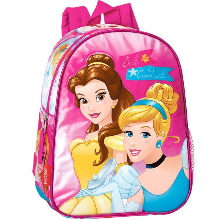 Mochila pré escolar reversível 32cm Rapunzel Listen   Loja