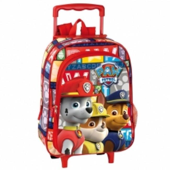 Mochila Trolley Patrulha Pata 31x24x13cm | Loja da Criança