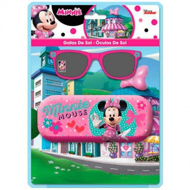5543ff5565035 Óculos Sol Minnie + Bolsa Rigida