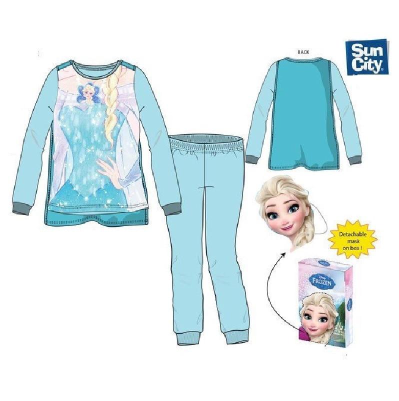 242b254f88 Pijama Azul micro-polar Elsa Frozen