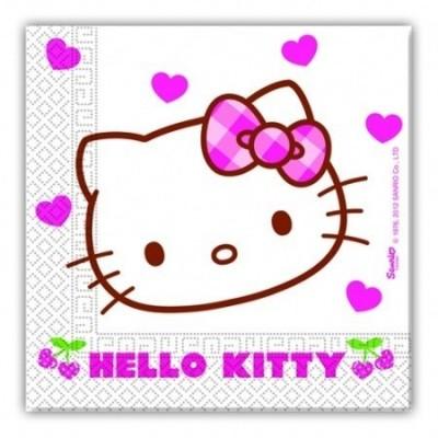 20 Guardanapos Festa Hello Kitty