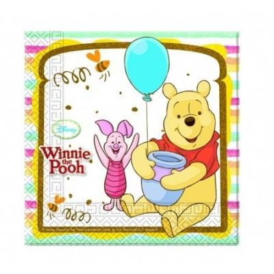 20 Guardanapos Festa Ursinho Winnie the Pooh