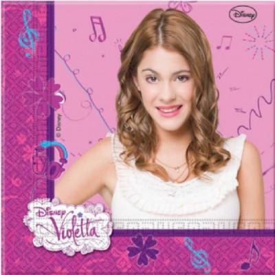 20 Guardanapos Violetta Disney (33x33cm)