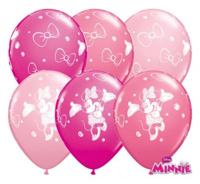25 Balões Minnie Bebé Rosa Sortidos 11