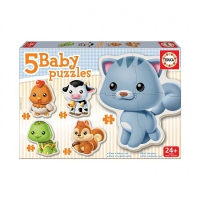 5 Baby Puzzles Animais 2