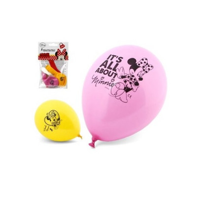 5 Balões Latex Minnie