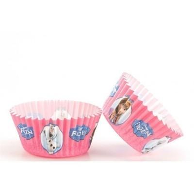 50 Cápsulas Cupcake Frozen