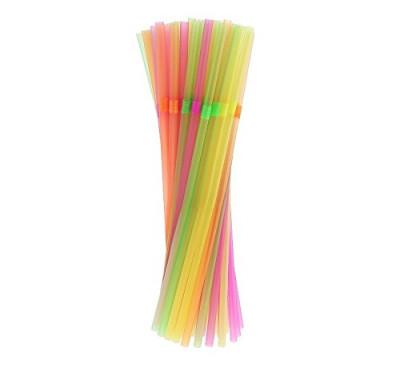 50 Palhinhas Plástico Flexíveis Multicolores