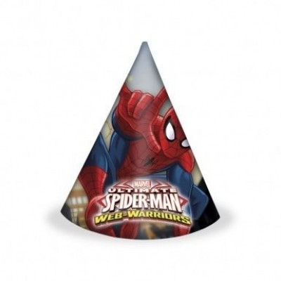 6 Chapéus Festa Spiderman Web Warriors