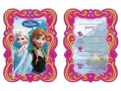 6 Convites Disney Frozen Premium