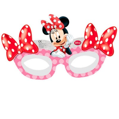 6 Máscaras de festa da Minnie Disney Cafe