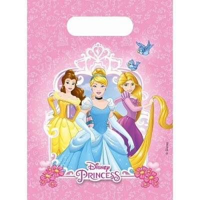 6 sacos brinde festa Princesas Disney