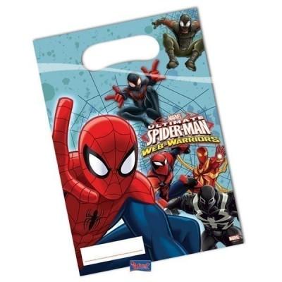 6 Sacos festa Spiderman Web Warriors