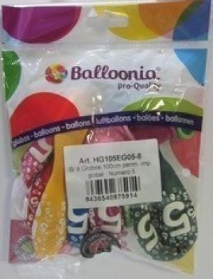 8 balões números 0 a 9