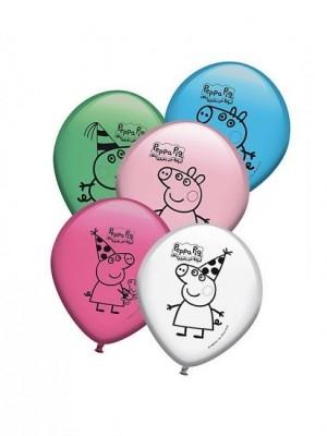 8 Balões Porquinha Peppa