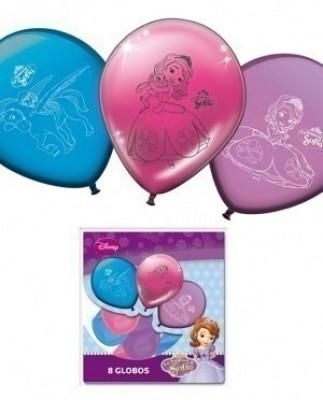 8 Balões Princesa Sofia