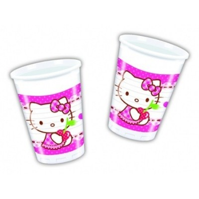 8 Copos Festa Hello Kitty