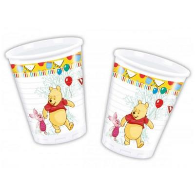 8 Copos Festa Ursinho Winnie The Pooh