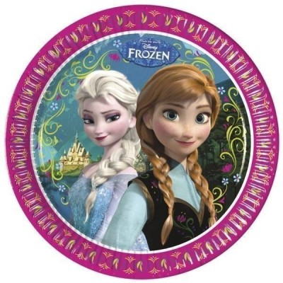 8 Pratos Festa Disney Frozen 23cm