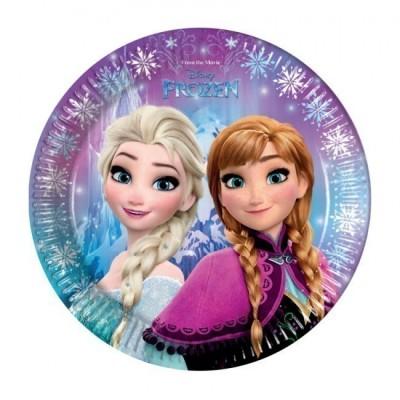 8 Pratos festa Frozen Lights 20 cm