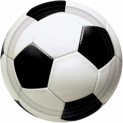 8 Pratos Festa Futebol (18 cm)