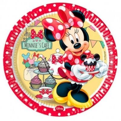8 Pratos Festa Minnie Cafe 23cm