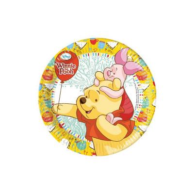 8 Pratos Festa Ursinho Winnie The Pooh