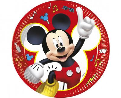 8 Pratos Mickey Pals at Play 23cm