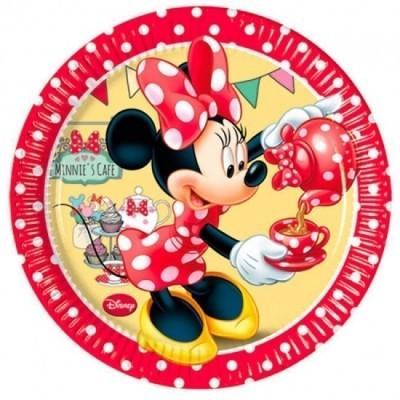 8 Pratos Minnie Cafe 20cm