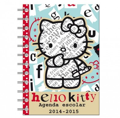 Agenda Escolar 2014 2015 Hello Kitty Letter