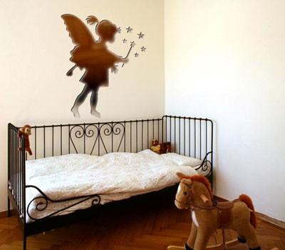 Autocolante Decoração de Quarto Criança Fada dos Desejos Espelhado