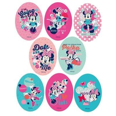 Autocolantes têxtil Minnie Mouse ovais - diversos