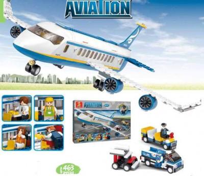 Aviation Avião Skybus com Acessórios Sluban 463 pcs