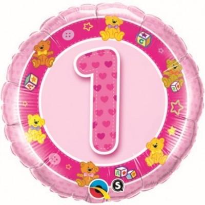 Balão 1 Foil Rosa