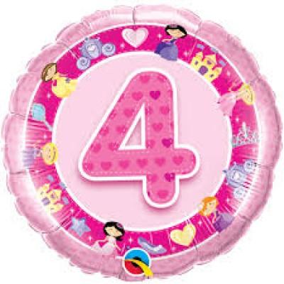 Balão 4 Foil Rosa