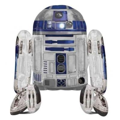 Balão Airwalker  R2D2 Star Wars 96cm
