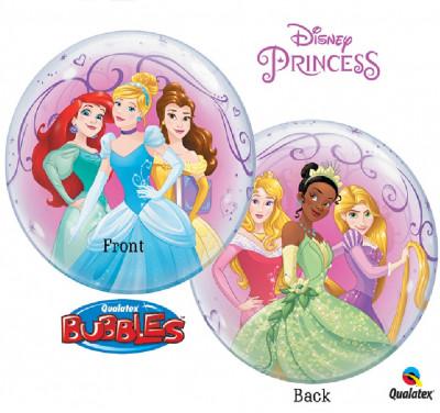 Balão Bubble 56cm Princesas Disney