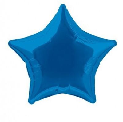 Balão Estrela Azul Metalizado 45cm
