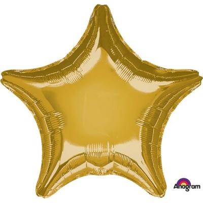 Balão Estrela Metalizado Dourado 45cm